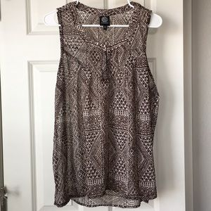 Brown Patterned Tank